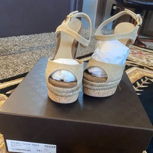 Nwt Gucci wedges size 4 1/2